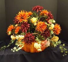 Fall Table Centerpieces by Fall Floral Arrangements Fall Floral Arrangement Pumpkin