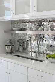 mirror backsplash in kitchen ideas for mirror backsplash tiles design kitchen laurencemakano co