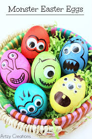 how to decorate easter eggs monster eggs artzycreations com