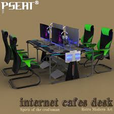 Furniture Row Desks Pseat Gaming Table Double Row Racing Table Design Gaming And