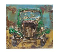 sculpture home decor modern metal art wall sculpture home decor vintage green car u2013 dsd