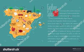 Map Of Spain Regions by Map Spain Template Vector Illustration Icons Stock Vector