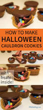 halloween cauldrons halloween surprise cauldron cookies with treats inside little