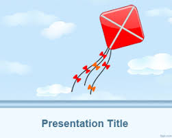 kite powerpoint template is a free kite background converted to a