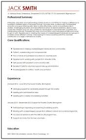 cv sample for volunteering myperfectcv