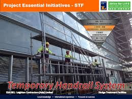 Temporary Handrail Systems Temporary Handrail System Has Been Adapted From The Layher System