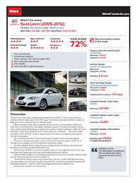 comparatie seat leon 2005 2012 fuel economy in automobiles