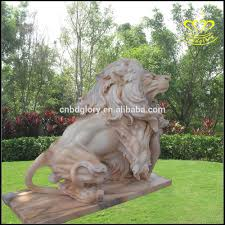 foo lions for sale garden decor naturla carving white marble foo dog lion