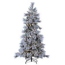flocked tree christmas trees hsn