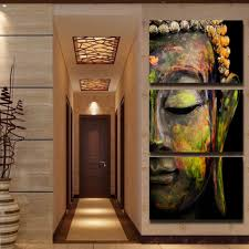 modern colorful buddha canvas prints painting by numbers home