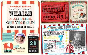 custom circus invitations first birthday circus invitations iidaemilia com
