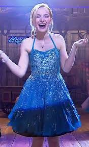 blue new years dresses wornontv liv s blue embellished new years dress on liv and maddie