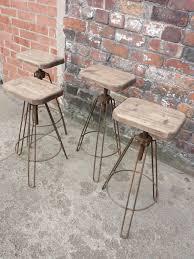 industrial hair pin leg stool adjustable height steel u0026
