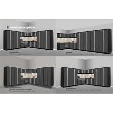 Garage Cabinet Set Newage Pro Series 15 Piece Garage Corner Cabinet Set In Gray 52159