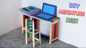 Laptop Desk Chair by Diy Miniature Furniture Desk Chair U0026 Laptop Popsicle Stick