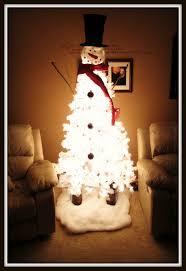 snowman christmas tree white pre lit christmas tree white