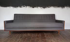 amerikanisches sofa kaufen amerikanisches mid century teak sofa in grauer wolle g plan e