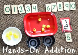 simple math hands on addition in lieu of preschool