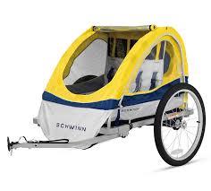 amazon com schwinn echo double bike trailer yellow child