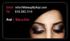 Makeup Business Cards Designs Makeup By Arpi Business Card Design Business Card Print