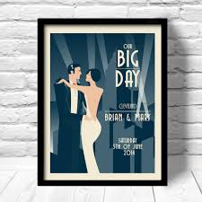 Photo Art Deco Art Deco Wedding Print Art Deco Wedding Poster Unique