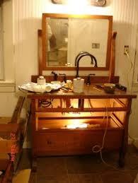 Old Dresser Made Into Bathroom Vanity Dressers Made Into Bathroom Vanity Reclaimed Dresser Turned Into