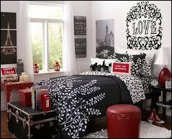 Paris Inspired Bedroom by French Inspired Girls Bedroom In Gray And Red Travel Theme