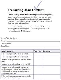 home design checklist the nursing home checklist openplacement community openplacement