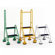 2 Step Handrail Handrail Mobile 2 Steps Anti Slip Treads