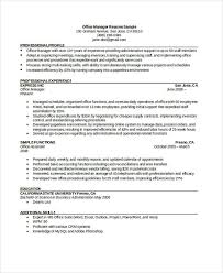 Office Professional Resume Office Manager Resumes 8 Free Word Pdf Format Download Free