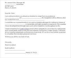 2 week notice letters 2 week notice letter for job sample 2 week