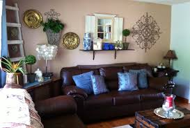 living room ideas creative items blue and brown living room ideas