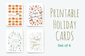 printable winter holiday cards card templates creative market