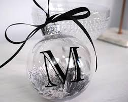initial ornament etsy