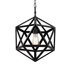 Geometric Pendant Light by Bethel International Du28 1 Light Du Series Geometric Large
