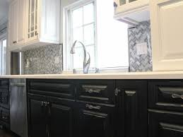 Black And White Kitchen Transitional Kitchen by Black Lower And White Upper Kitchen Cabinets Best 25 Two Tone