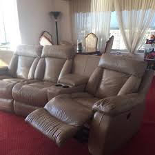 Reclinable Chair Best Beige Leather Set Of Reclinable Chairs For Sale