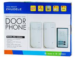 door release button for desk zhudele tl 3207aa non visual two door lock intercom doorbell door