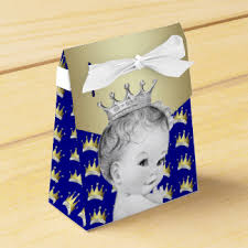 royal prince baby shower favors royal blue prince baby shower favor boxes zazzle