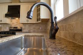 Leland Kitchen Faucet Rubbed Bronze Kitchen Faucet The Homy Design Inside Delta