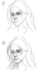 how to draw female face drawing and digital painting tutorials
