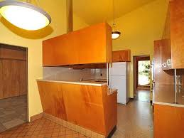 mid century kitchen ideas stylish wooden mid century cabinet using yellow wall color for