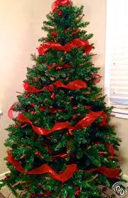 christmas tree decorations with red ribbons u2013 happy holidays