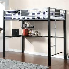 Black Bunk Bed With Desk Cheap Loft Beds With Desk Black Iron Size Loft Bed Wood Loft