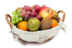 fruit in a basket a small set of fruit in a basket stock photo image of
