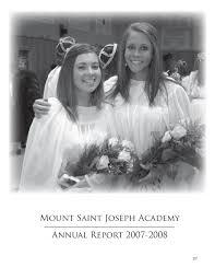 Kristine Brabson by Msja Fall 2007 2008 Annual Report By Mount Saint Joseph Academy