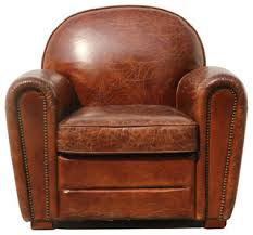 Club Chair Pasargad Genuine Leather Club Chair Contemporary Armchairs