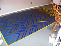 the sunset lane chevron painted floor subfloor