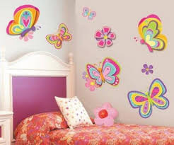Flower Wall Decals For Nursery by Butterfly And Flower Wall Decals Interior Design Ideas