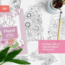 floral coloring book pdf 10 coloring pages printable